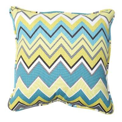 Bayridge Indoor/Outdoor Throw Pillow Fabric: Limeaide