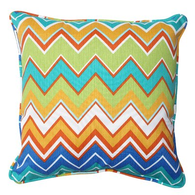 Bayridge Indoor/Outdoor Throw Pillow Fabric: Orangeaide