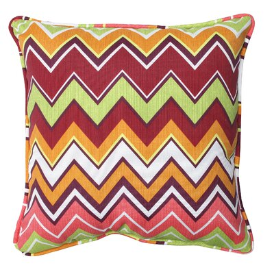 Bayridge Indoor/Outdoor Throw Pillow Fabric: Raspberry