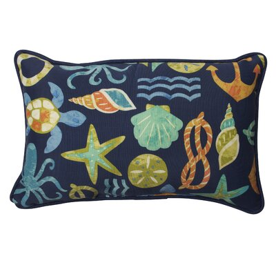Shadybrook Indoor/Outdoor Lumbar Pillow Fabric: Neptune, Size: 16.5 H x 24.5 W x 5 D