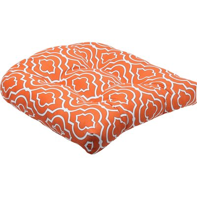 Starlet Outdoor Dining Chair Cushion Fabric: Mandarin