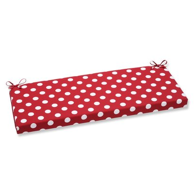 Outdoor Bench Cushion Color: Red