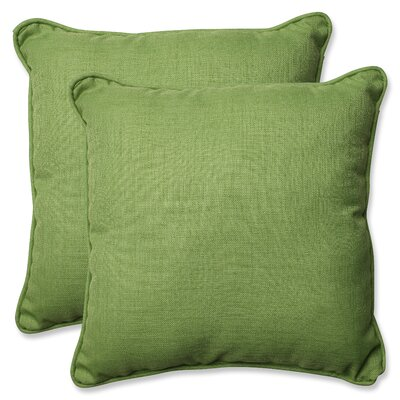 Indoor/Outdoor Throw Pillow Color: Crisp Green