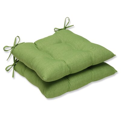 Outdoor Dining Chair Cushion Fabric: Crisp Green