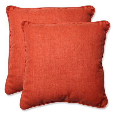 Indoor/Outdoor Throw Pillow Color: Coral