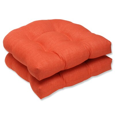 Fresco Outdoor Dining Chair Cushion Fabric: Coral