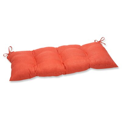 Outdoor Loveseat Cushion Fabric: Coral