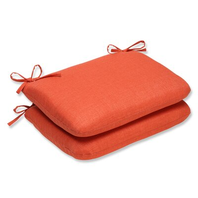 Outdoor Dining Chair Cushion Fabric: Coral
