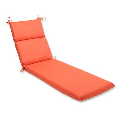 Outdoor Chaise Lounge Cushion Fabric: Coral