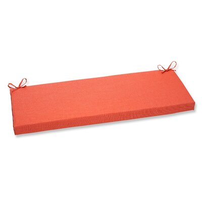 Outdoor Bench Cushion Fabric: Coral
