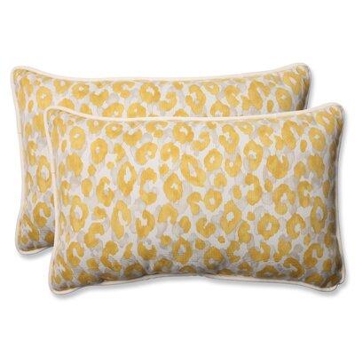Snow Leopard Sunburst Indoor/Outdoor Throw Pillow Size: 11.5 H X 18.5 W X 5 D