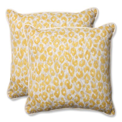 Snow Leopard Sunburst Indoor/Outdoor Throw Pillow