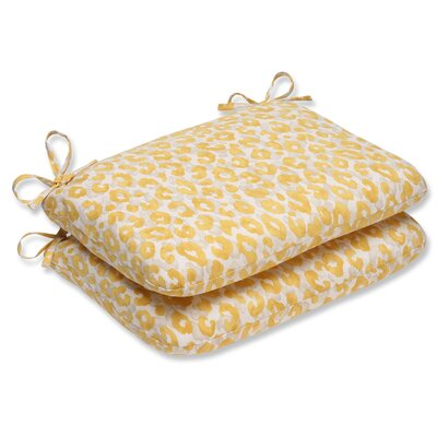 Snow Leopard Sunburst Outdoor Dining Chair Cushion
