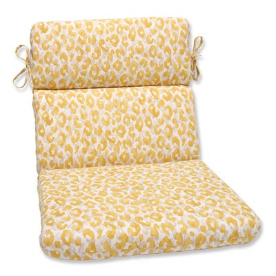 Snow Leopard Sunburst Outdoor Chaise Lounge Cushion
