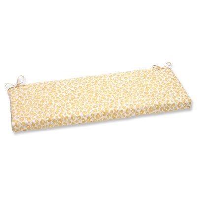 Snow Leopard Sunburst Outdoor Bench Cushion