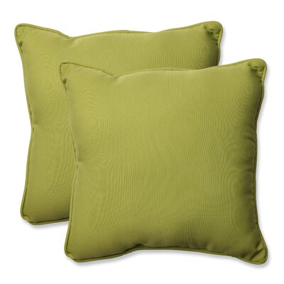 Indoor/Outdoor Throw Pillow Color: Fresco Green