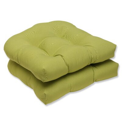 Fresco Outdoor Dining Chair Cushion Fabric: Fresco Green