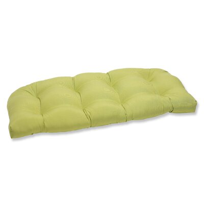 Outdoor Loveseat Cushion Fabric: Fresco Green