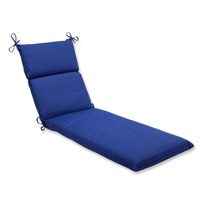 Fresco Outdoor Chaise Lounge Cushion Color: Navy