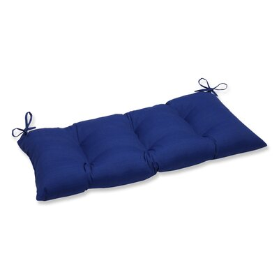 Fresco Outdoor Loveseat Cushion Color: Navy