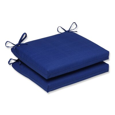Fresco Outdoor Dining Chair Cushion Color: Navy