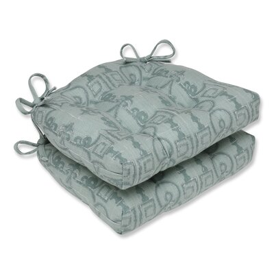 Seville Reversible Chair Pad Color: Seagrass
