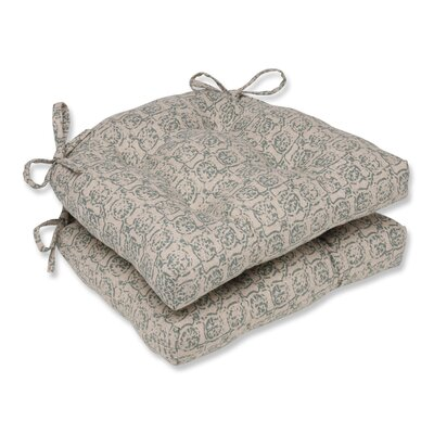 Castille Reversible Chair Pad Color: Seagrass