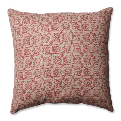 Castille Throw Pillow Size: 16.5 H x 16.5 W x 5 D, Color: Salmon