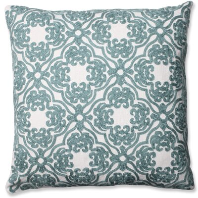 Damask Cotton Throw Pillow Color: Spa Blue