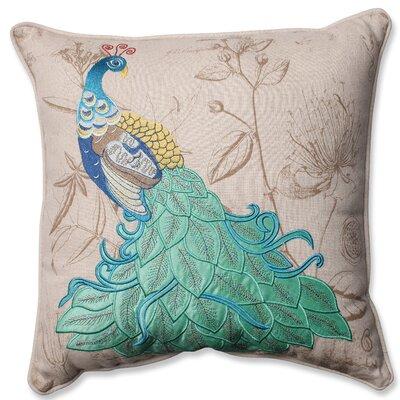 Peacock Applique Throw Pillow