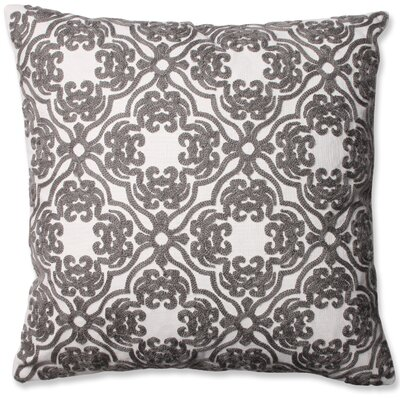 Damask Cotton Throw Pillow Color: Grey