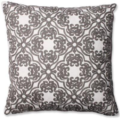 Damask Cotton Throw Pillow Color: Grey