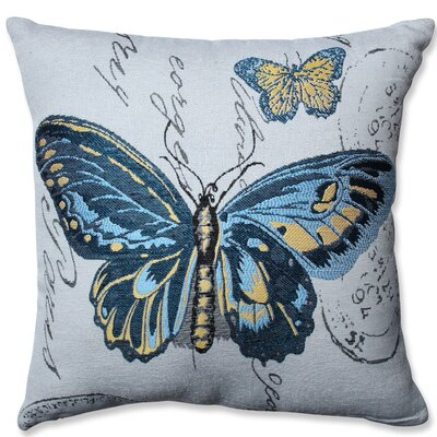 Butterfly Throw Pillow Color: Blue