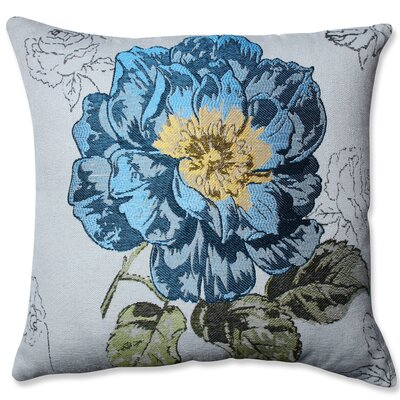 Jacquard Flower Throw Pillow Color: Blue