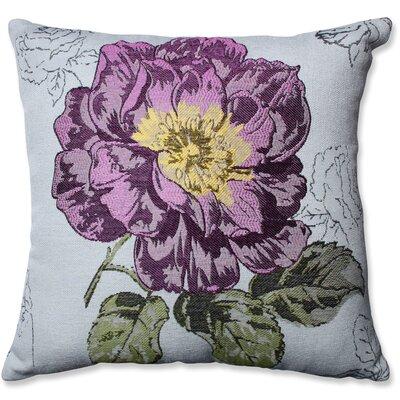Jacquard Flower Throw Pillow Color: Purple
