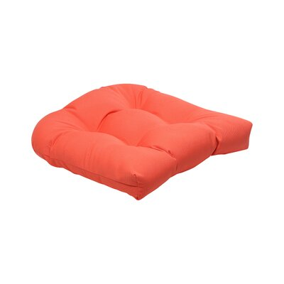 Canvas Outdoor Sunbrella Dining Chair Cushion Fabric: Melon