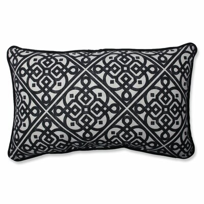 Lace It Up Ebony Cotton Lumbar Pillow