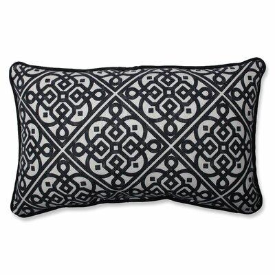 Lace It Up Ebony Cotton Lumbar Pillow