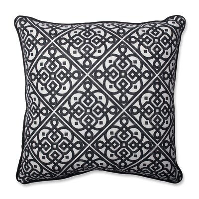 Lace It Up Ebony Perfect Throw Pillow Size: 18