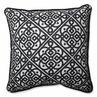 Lace It Up Ebony Perfect Throw Pillow Size: 16.5