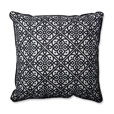 Lace It Up Ebony Perfect Throw Pillow Size: 25