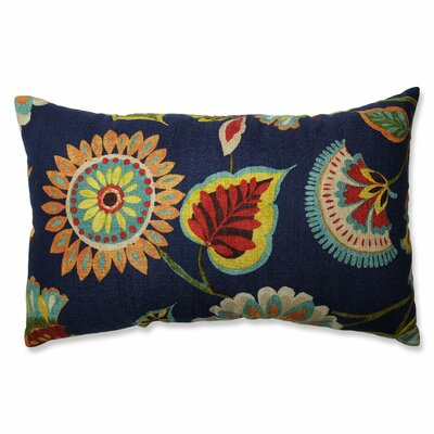 Ailey Prussian Cotton Lumbar Pillow