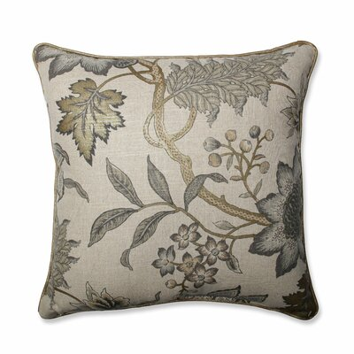 Jacobean Flair Vermeil Throw Pillow Size: 18