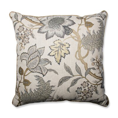 Jacobean Flair Vermeil Throw Pillow Size: 25