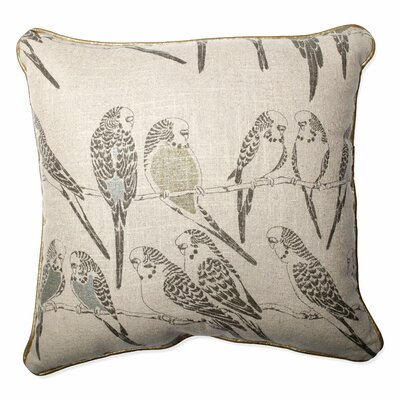 Retweet Vermeil Throw Pillow Size: 16.5