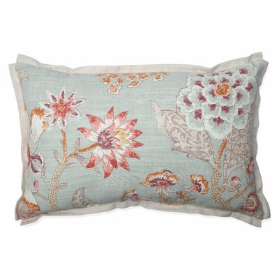 Room with a View Cerulean cotton Lumbar Pillow