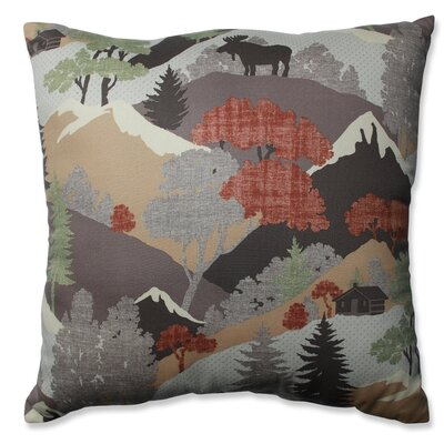 Happy Camper Heather Cotton Throw Pillow Size: 18