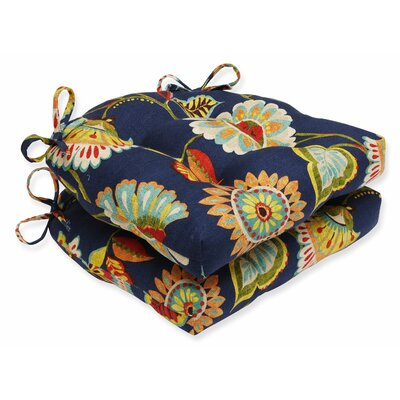 Ailey Prussian Reversible Chair Cushion