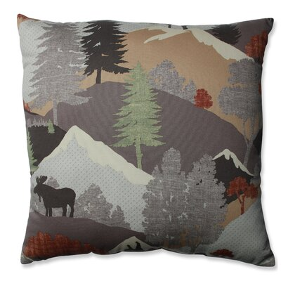 Happy Camper Heather Cotton Throw Pillow Size: 16.5