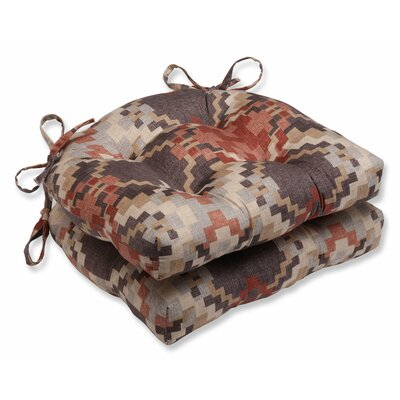 Cabin Fever Heather Reversible Chair Cushion